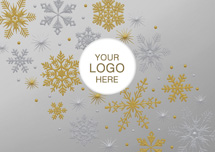 Fanfare Flakes Holiday Logo Cards