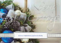 Sapphire & Silver Holiday Cards