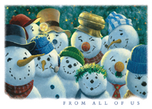 Snowmen Committee Christmas Greeting Card